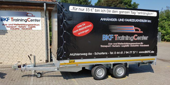 Anhängerverleih in Schortens, Jever, Wilhelmshaven - BKF TrainingCenter